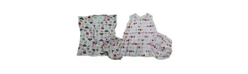 ชุดเด็กแรกเกิด (ผ้า100%Cotton ยืด)
