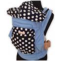 ผ้าอุ้มเด็ก Mei Tai มีตัวล๊อค สีฟ้า ลายที่ 2
