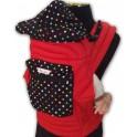 ผ้าอุ้มเด็ก Mei Tai มีตัวล๊อค สีแดง ลายที่ 1