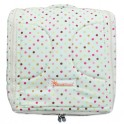ที่นอนเด็กทารกพกพา (2 IN 1) Cotton100% ลายพื้นครีมจุดหลายสี