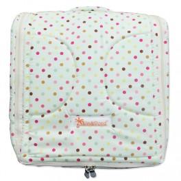 ที่นอนเด็กทารกพกพา (2 IN 1) Cotton100% ลายพื้นฟ้าจุดขาว