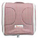 ที่นอนเด็กทารกพกพา (2 IN 1) Cotton100% ลายสก๊อตแดง
