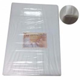 ที่นอนฟองน้ำ หุ้มหนังเทียม กันน้ำ 64x92 cm หนา 3 นิ้ว สีขาว