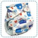 กางเกงผ้าอ้อมกันน้ำ รุ่น Fit Most ลายปลาวาฬสีฟ้า