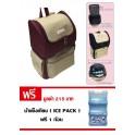 กระเป๋าเป้เก็บความเย็น (Coolbag) - สีเลือดหมู