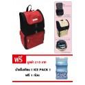 กระเป๋าเป้เก็บความเย็น (Coolbag) - สีแดง-ดำ