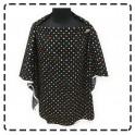 เสื้อคลุมให้นมแบบเต็มตัว มีโครง (ลายพื้นดำจุดเล็กหลายสี)