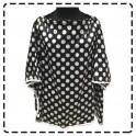 เสื้อคลุมให้นมแบบเต็มตัว มีโครง ผ้าซาติน (ดำจุดขาว)