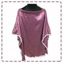เสื้อคลุมให้นมแบบเต็มตัว มีโครง ผ้าซาติน สีกะปิลายกุหลาบ