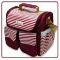 กระเป๋าคุณแม่ลูกอ่อน (กันน้ำและเก็บอุณหภูมิ) สีแดงเลือดหมู