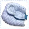หมอนรองให้นม พร้อมเบาะรองนอน สีฟ้า