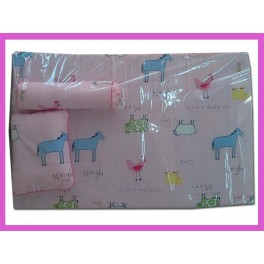 Set ที่นอนฟองน้ำ ลายสัตว์ สีชมพู