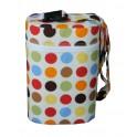 กระเป๋าใส่ขวดนม ลายจุดหลายสี